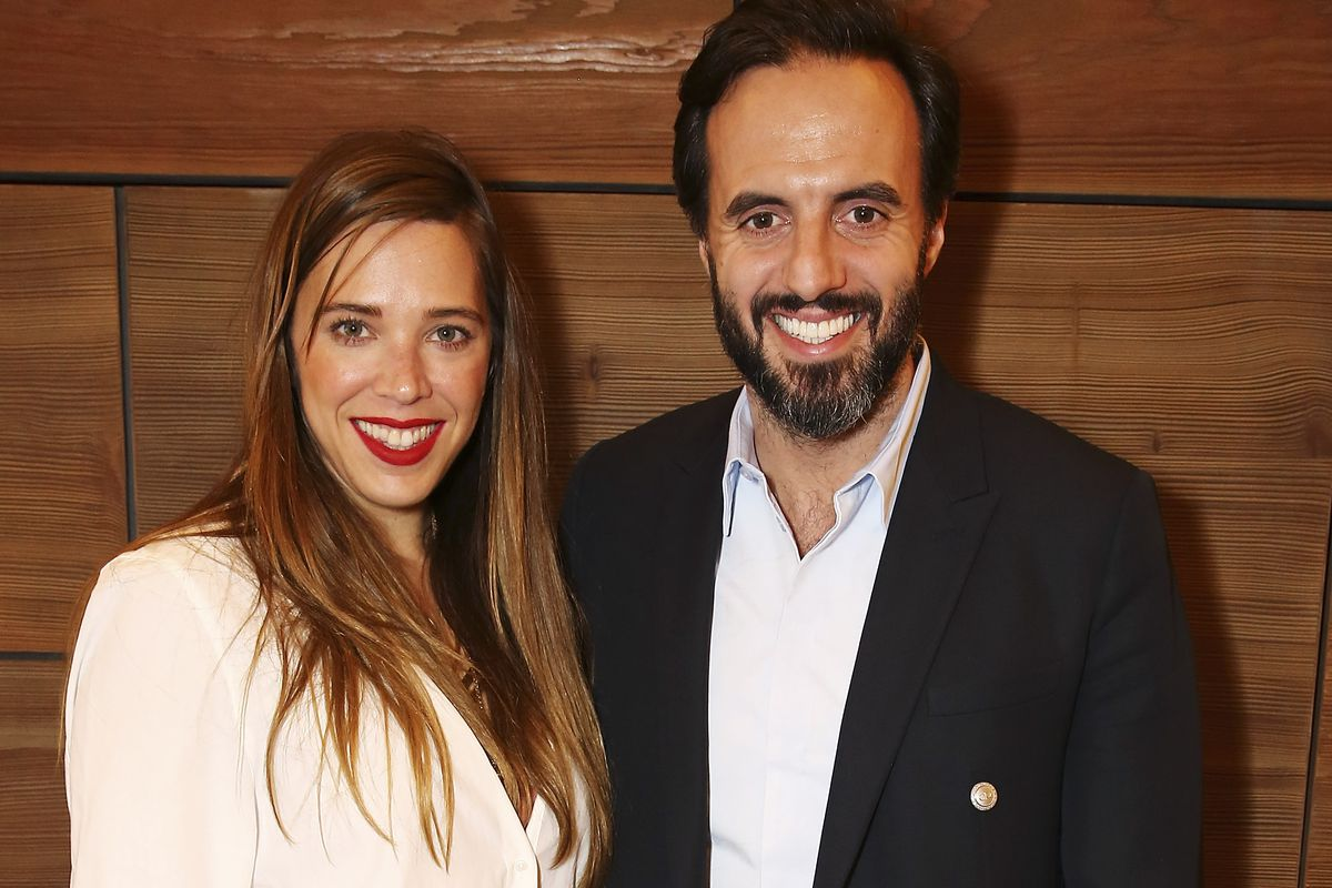 Farfetch CEO Jose Neves, at right, with Daniela Cecilio. Photo: David M. Benett/Getty Images