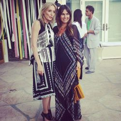 """Lubov with celeb stylist <a href=""""http://la.racked.com/archives/2013/03/14/stars_and_stylists_toast_lofts_robertson_popup.php"""">Nicole Chavez</a>."""