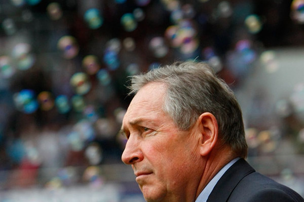 Gérard Houllier. Not in hospital, but perhaps negatively affected by the number of bubbles swirling around his head.
