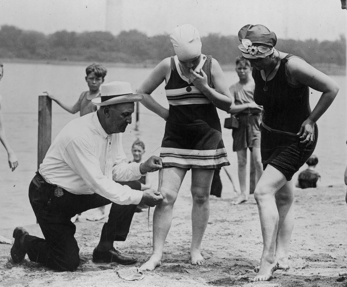A beach cop gets to measuring