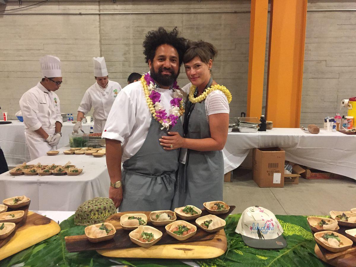 Ravi Kapur and his wife, April Storm