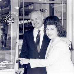 Robert R. McKay and Frances Ellen McKay at McKay Diamonds in Salt Lake City.