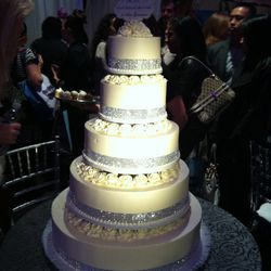 Behold a real buttermilk wedding cake by Hansen's Cakes.
