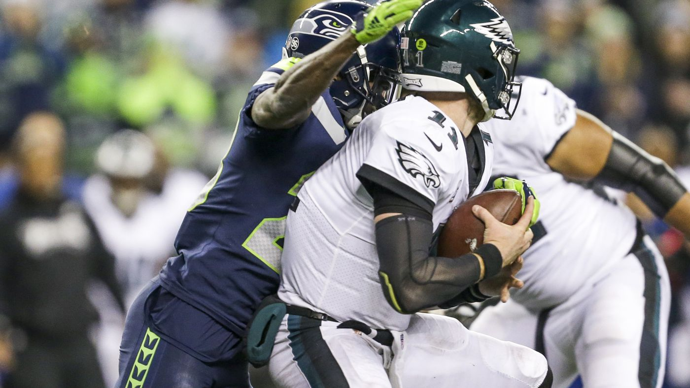 Pff Stats Seahawks Pressure Carson Wentz Don T Allow Pressure On