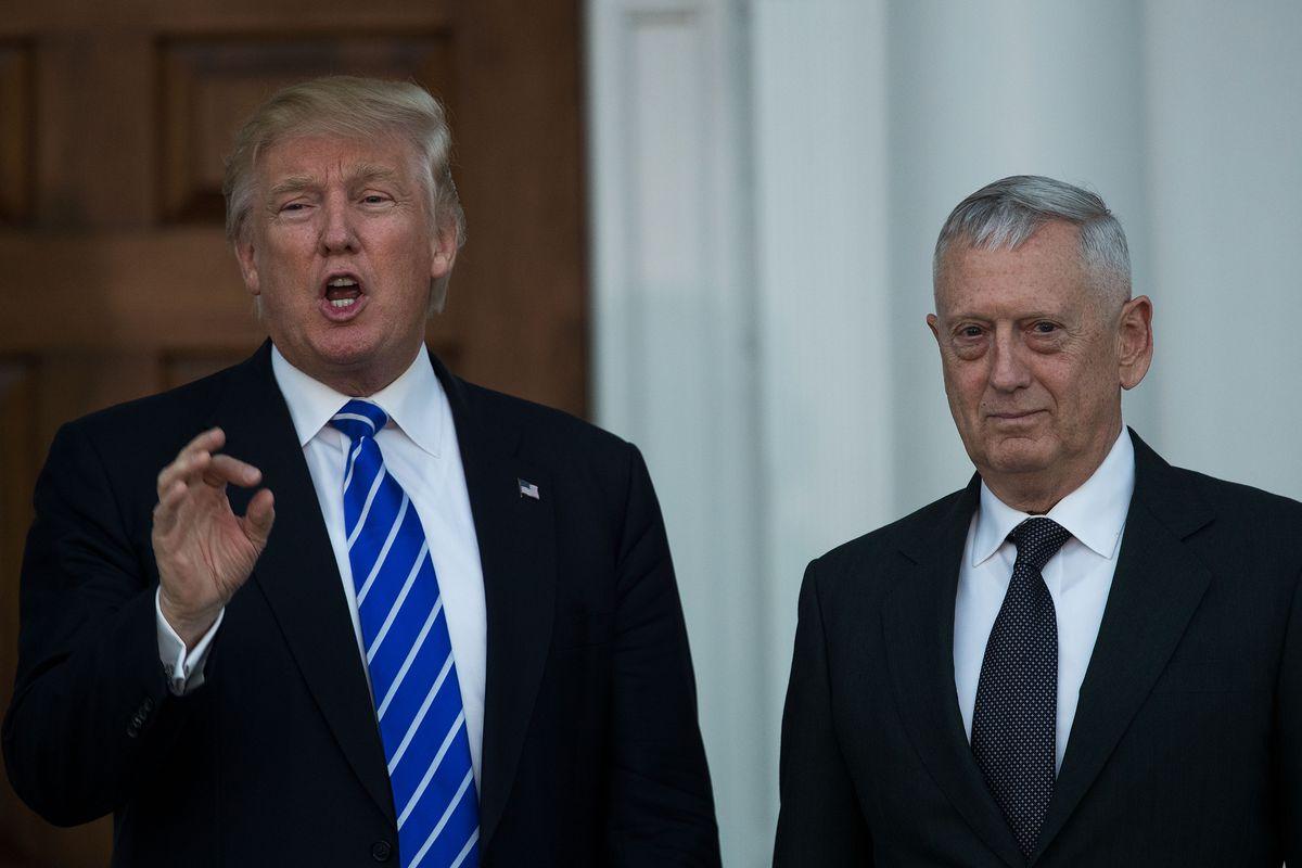 President Donald Trump and Defense Secretary James Mattis.