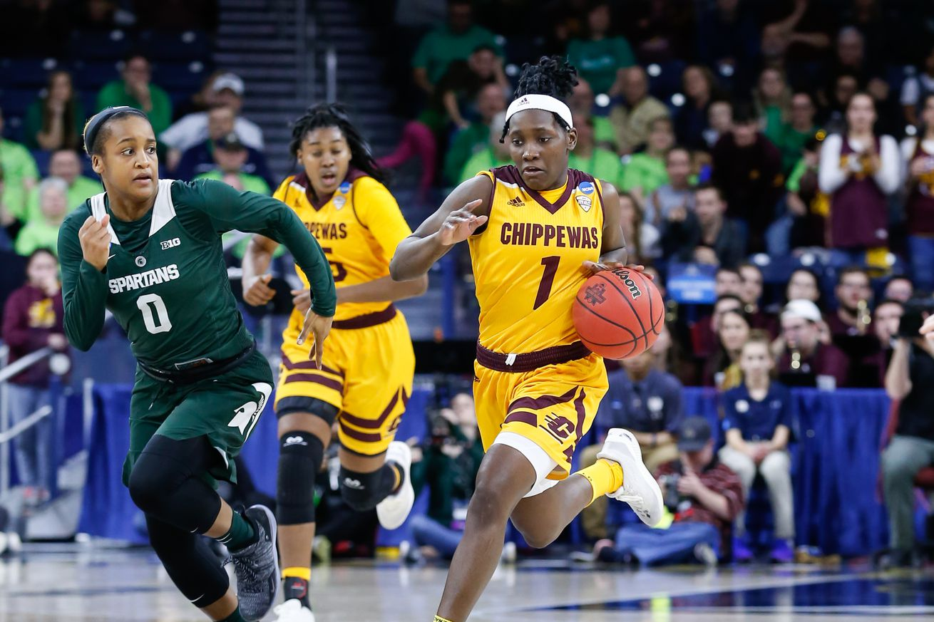 NCAA BASKETBALL: MAR 23 Div I Women's Championship - First Round - Central Michigan v Michigan State