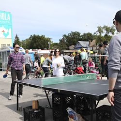 Anyone for (table) tennis? Wouldn't that be nice.