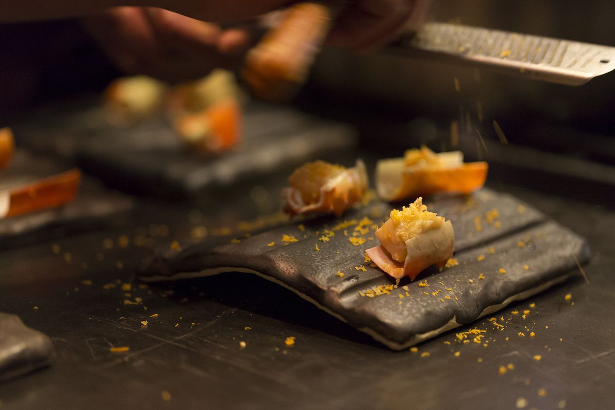 A Norwegian king crab dish from The Shaw Bijou [Photo: Aaron Lyle/Official]