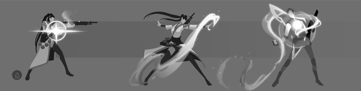 Concept art for Sage from Riot's shooter, Valorant
