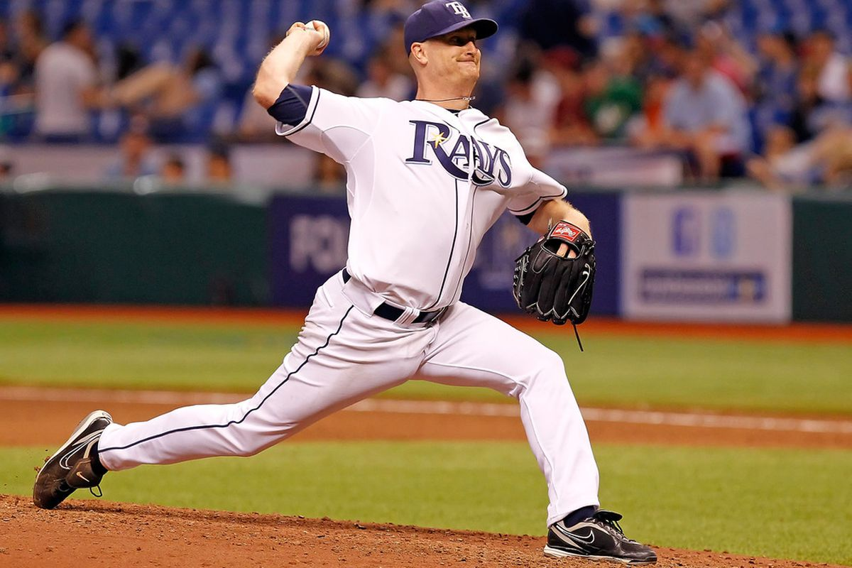 ST PETERSBURG, FL - MAY 31:  Pitcher Alex Cobb #53 of the Tampa Bay Rays pitches against the Texas Rangers during the game at Tropicana Field on May 31, 2011 in St. Petersburg, Florida.  (Photo by J. Meric/Getty Images)