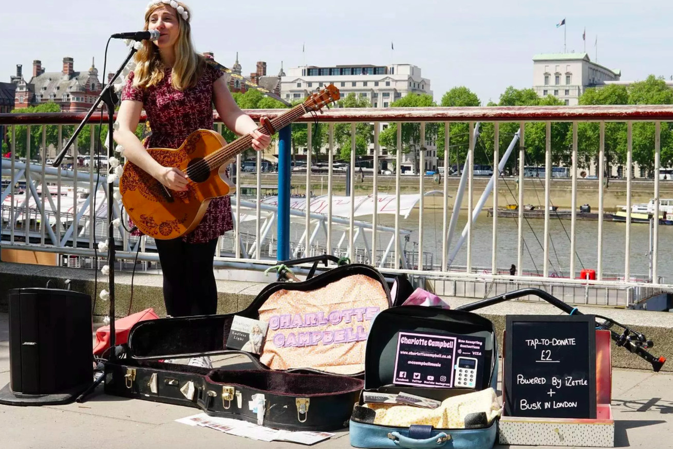 London busker Charlotte Campbell was one of those that trialled the new system.