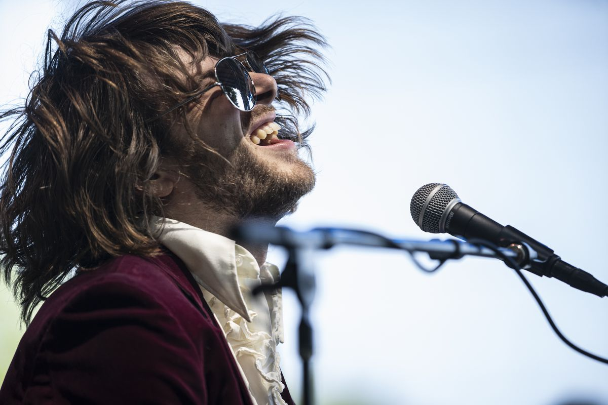 Neal Francis performs on day four of Lollapalooza in Grant Park.