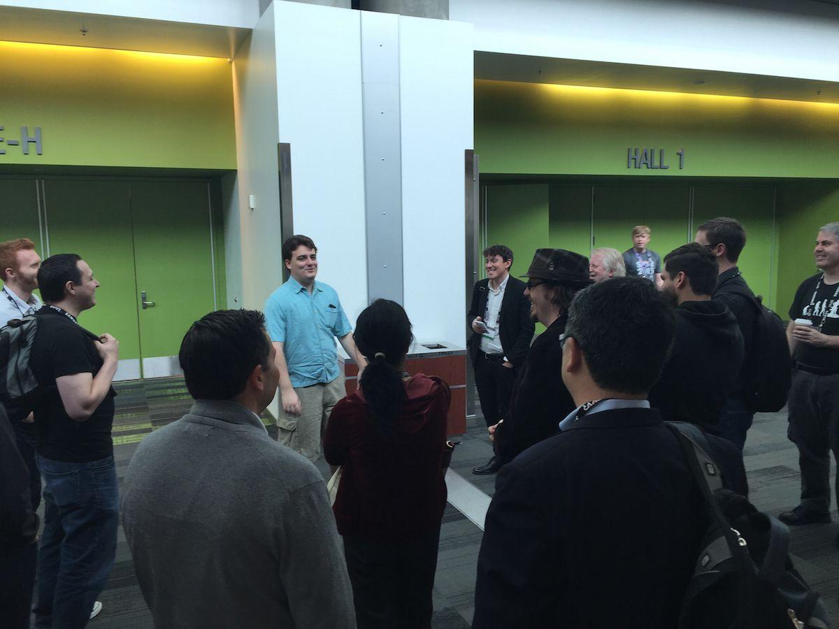 Oculus VR co-founder Palmer Luckey holds court at SVVR.