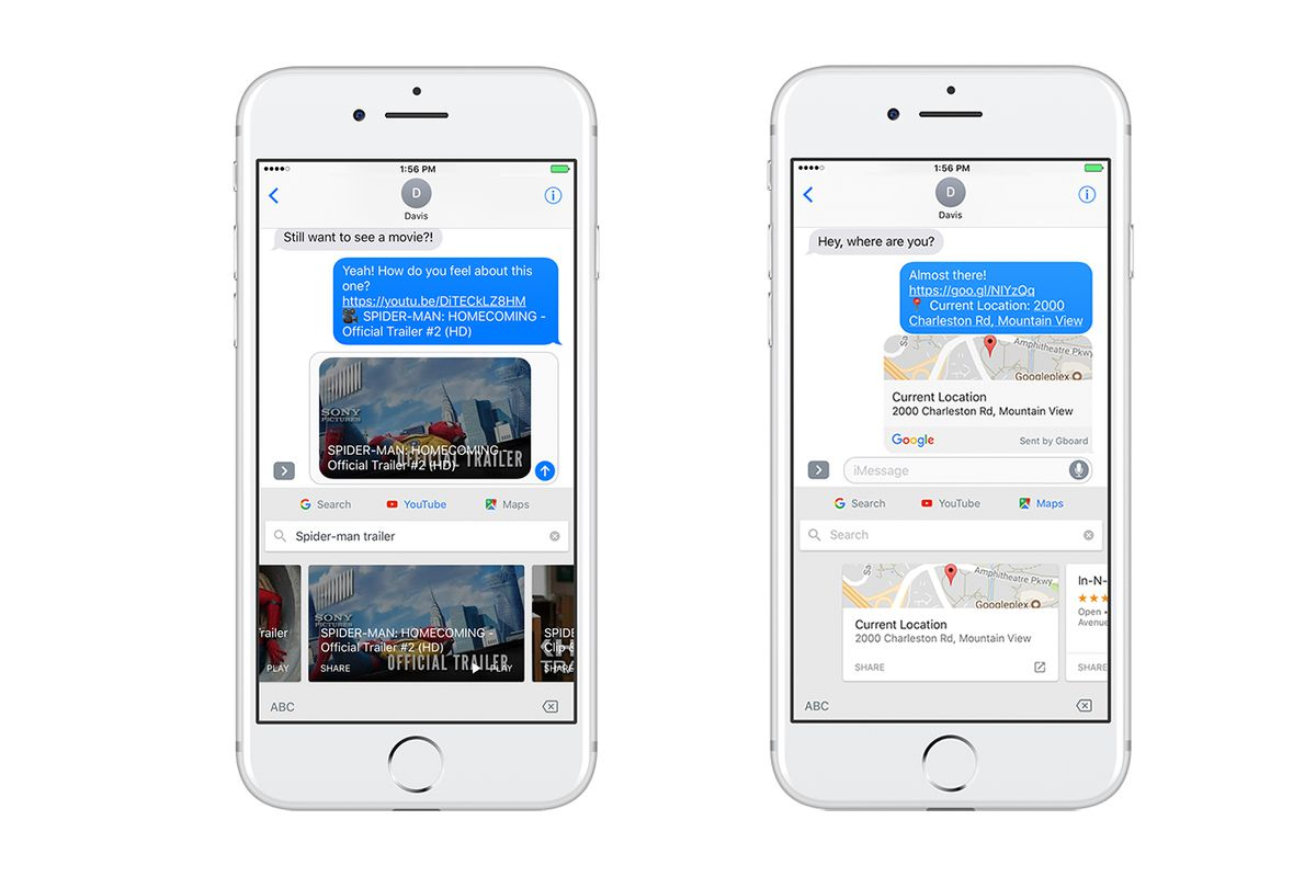 Google Gboard for iPhone adds maps, drawing and Youtube