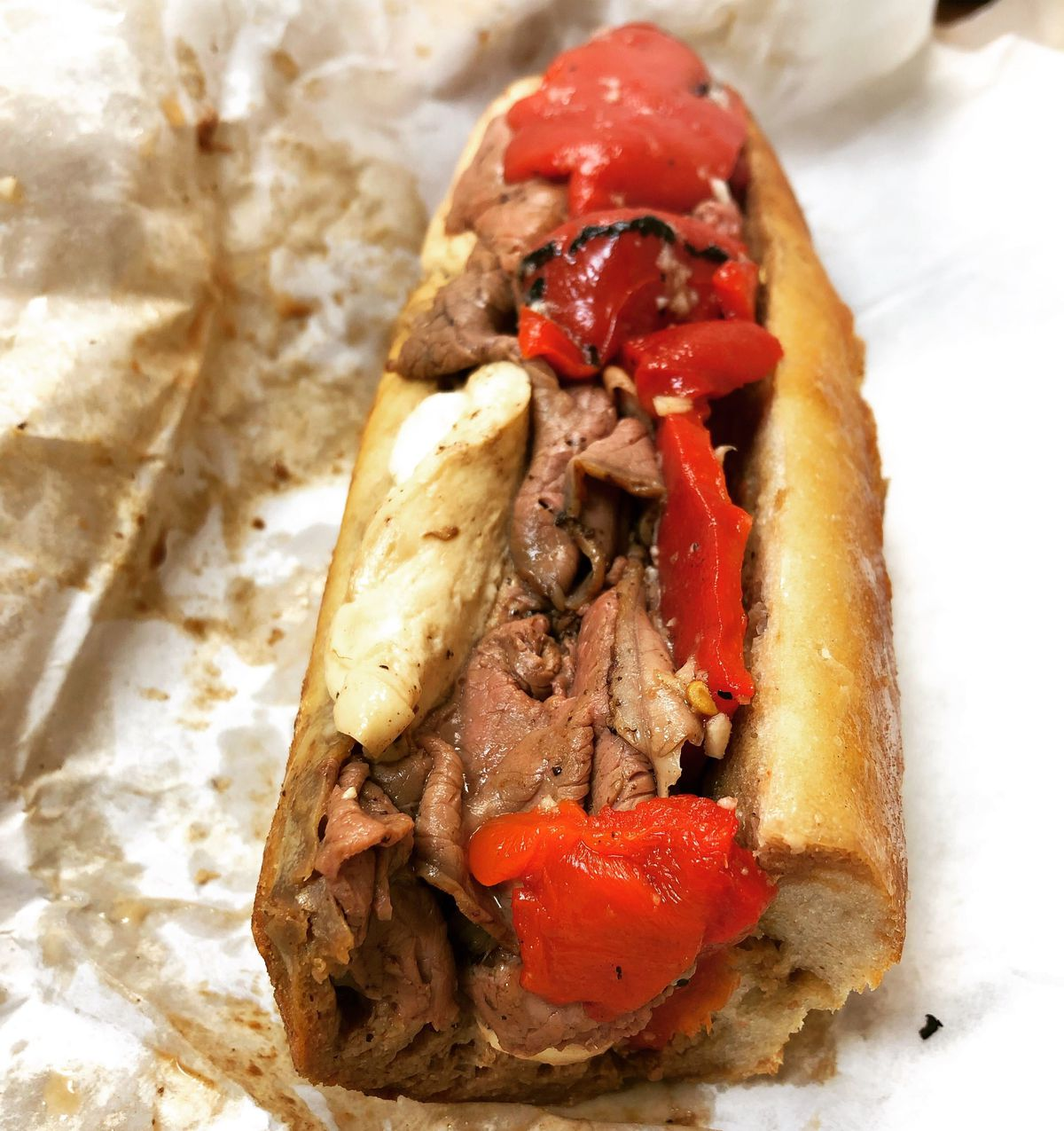Roast beef sandwich at Fiore's Deli