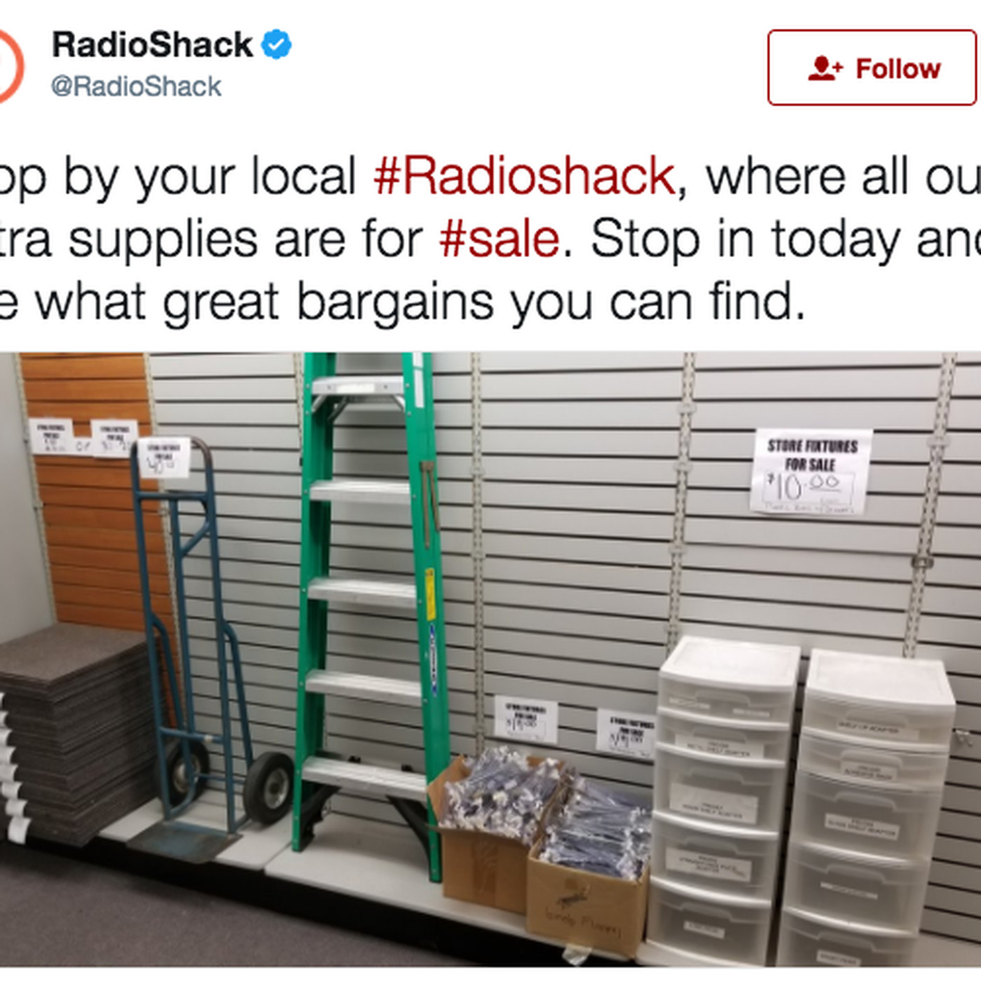 With nothing left to sell, RadioShack is selling itself to people