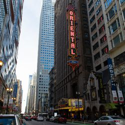 The Oriental Theatre in the Loop in 2018. | Tyler LaRiviere/Sun-Times