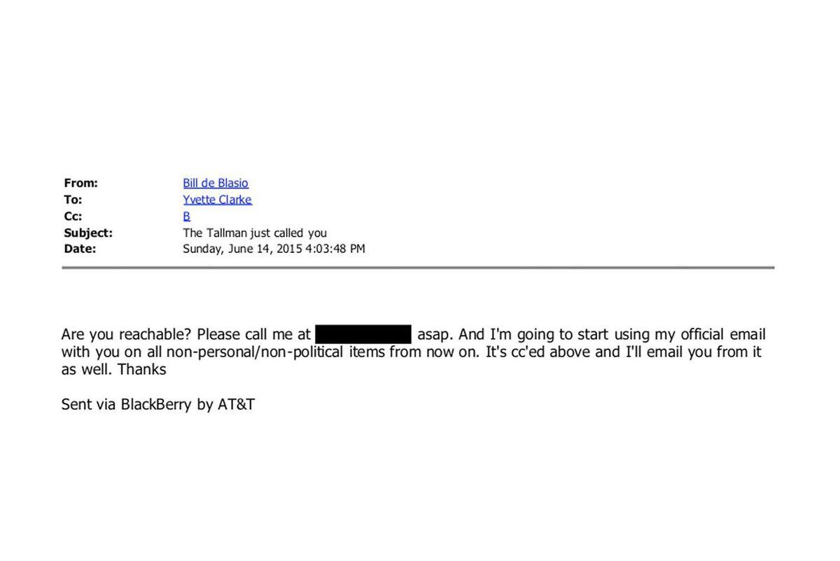 Bill de Blasio Emails
