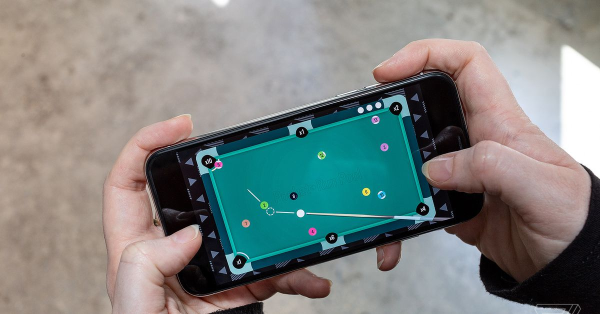 Pool on your iPhone is better when it's more like a video game