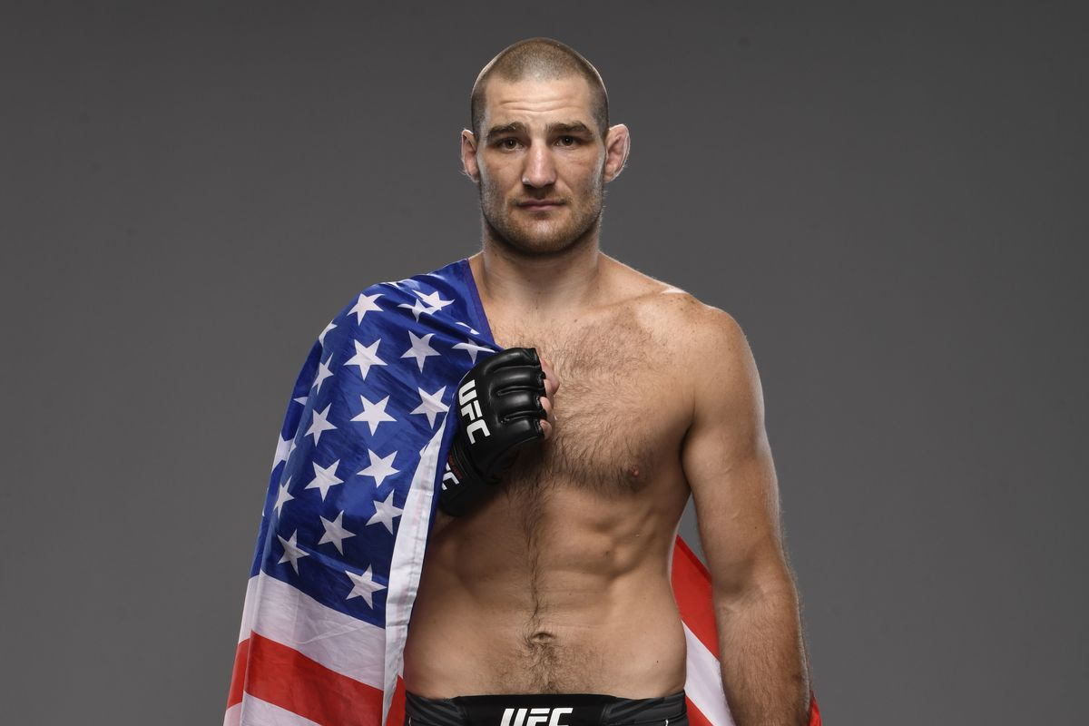 Sean Strickland poses for a portrait after his victory during the UFC Fight Night event at UFC APEX on May 01, 2021 in Las Vegas, Nevada.