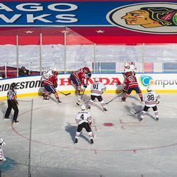 Brouwer Plays Puck on Boards