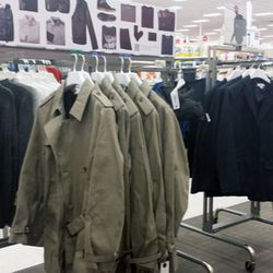 The men's section at the Burbank Target.
