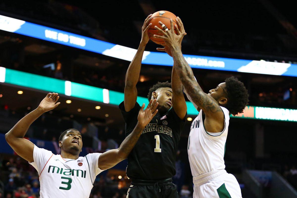 NCAA Basketball: ACC Conference Tournament-Miami-Florida vs Wake Forest