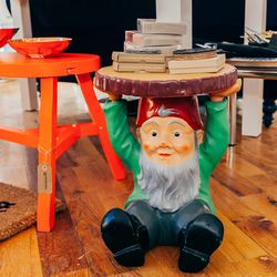 Sadly, this Philippe Starck gnome side table is just a merchandising piece, and not for sale.