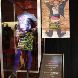 """The jacket from the singer's """"Boy Toy"""" ensemble features the late Keith Harring's artwork."""