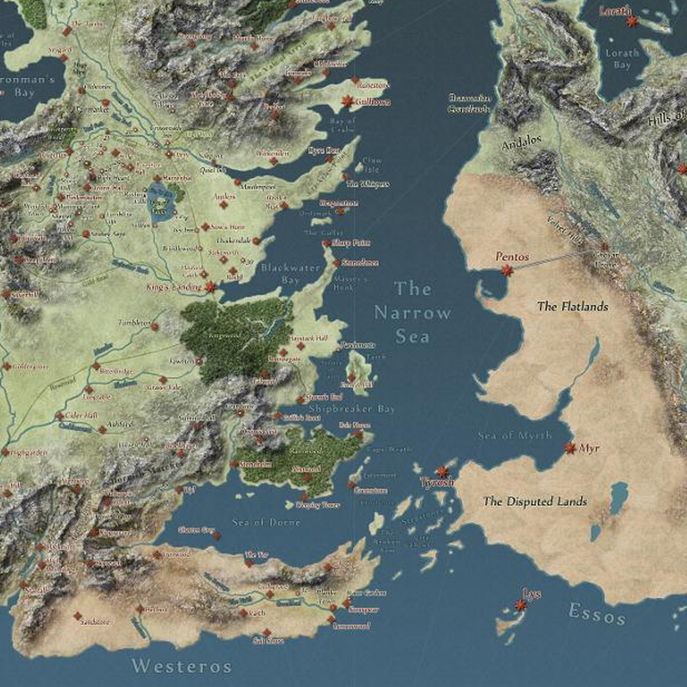 First Accurate Map Of The World.Interactive Game Of Thrones Map Will Make You An Expert On Westeros