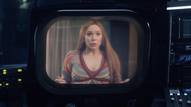 wanda maximoff on television in wandavision