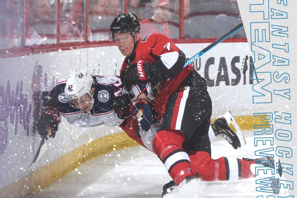 Fantasy Hockey 2019 20 Team Previews Ottawa Senators Fake Teams