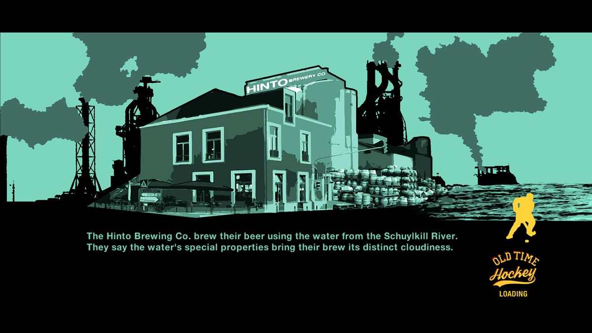 Old Time Hockey - story mode Schuylkill River loading screen