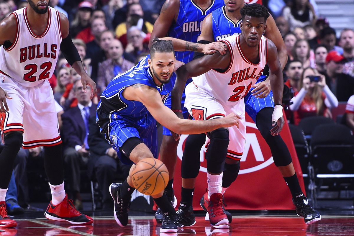 Evan Fournier and Jimmy Butler