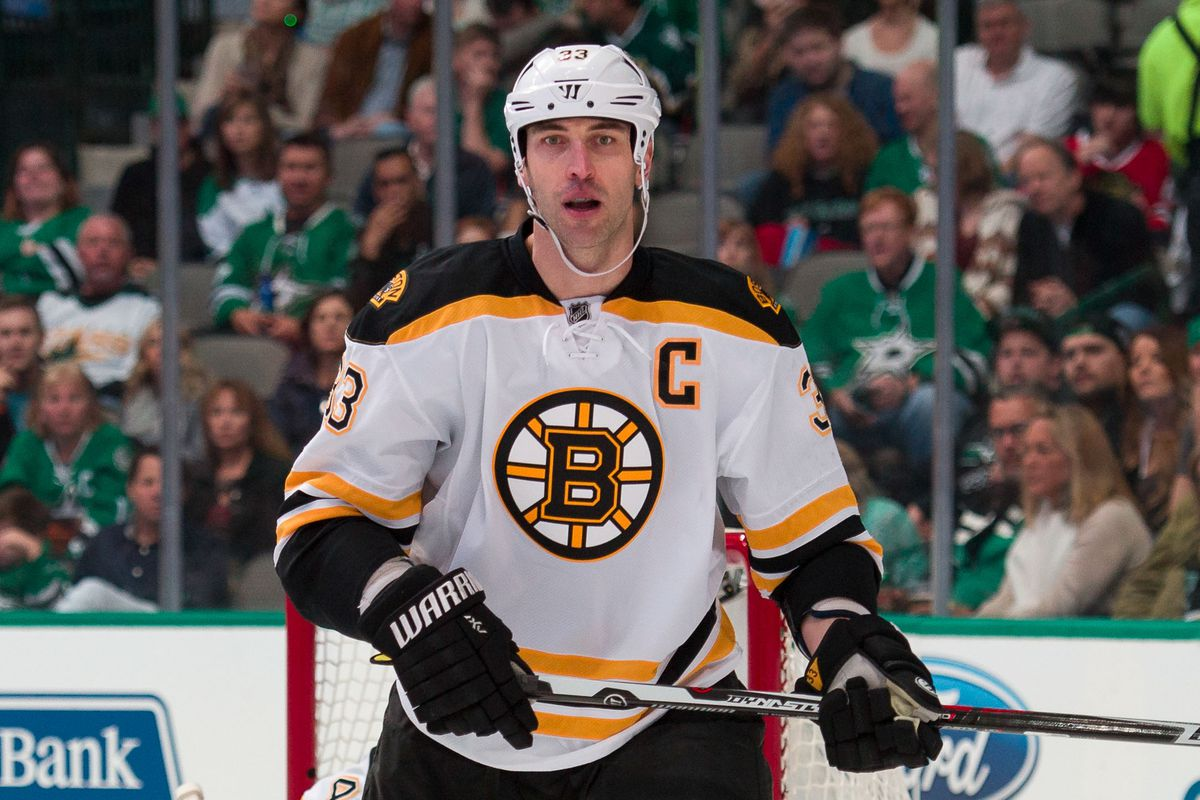 It was nice of Zdeno Chara to offer one of his sticks to decorate the new Boston Landing facility...