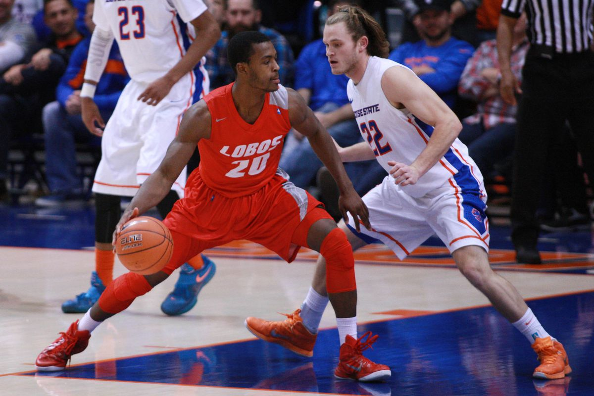 The battle for second place is today. Will Lobos' Sam Logwood be able to slow down James Webb III (not pictured)?