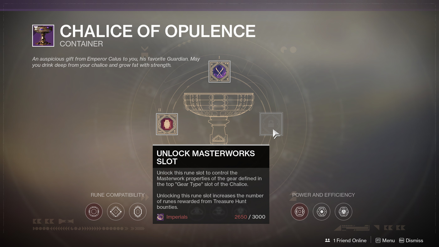 Destiny 2: Chalice of Opulence Rune crafting Guide - Polygon