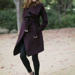 """Samantha of <a href=""""http://www.couldihavethat.com""""target=""""_blank"""">Could I Have That?</a> is wearing a <a href=""""http://shop.nordstrom.com/s/diane-von-furstenberg-beaux-wool-cashmere-wrap-coat/3815276?origin=category-personalizedsort&contextualcategory"""