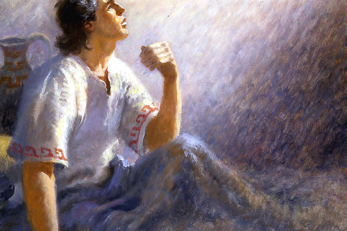 A painting of Jacob from the Book of Mormon. Jacob is the first to mention the name Christ in the Book of Mormon.