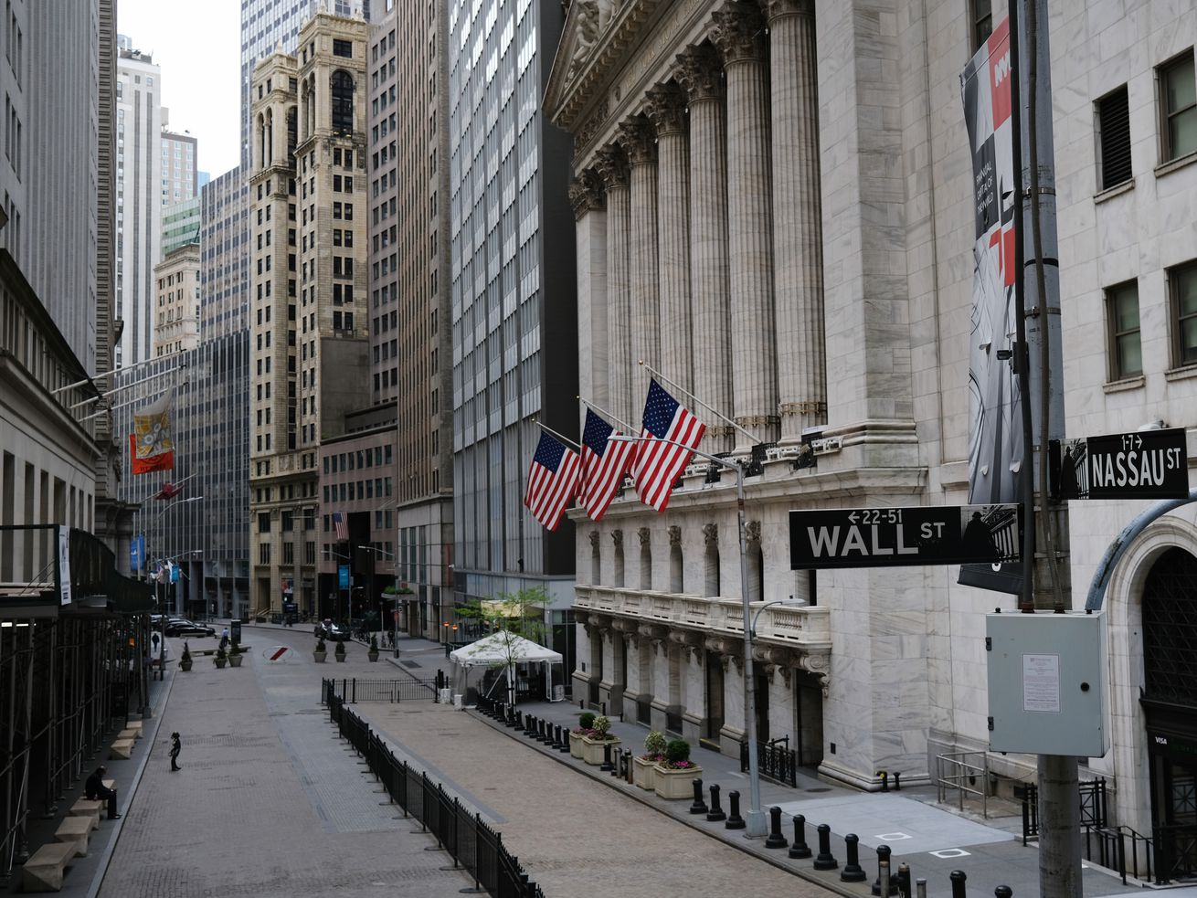 The outside of the New York Stock Exchange.