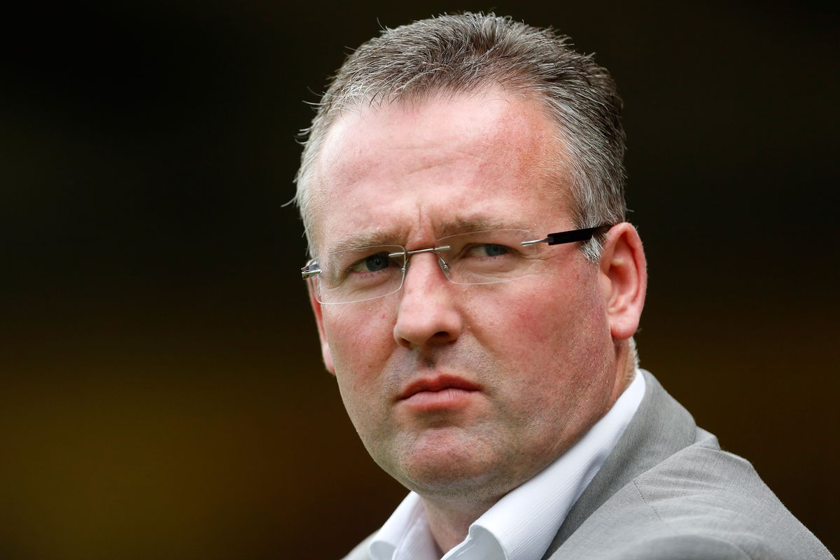 NOTTINGHAM, ENGLAND - AUGUST 4:  Manager Paul Lambert of Aston Villa during the pre-season friendly match between Nottingham Forest and Aston Villa at the City Ground on August 4, 2012 in Nottingham, England (Photo by Paul Thomas/Getty Images)