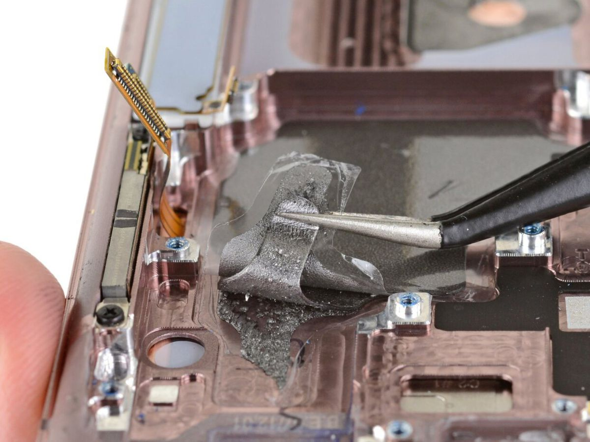 iFixit's teardown for the Samsung Galaxy Note 20 Ultra could explain why your phone is running hot