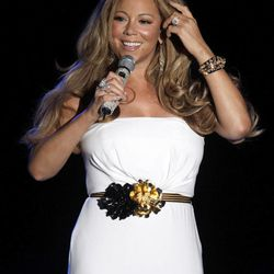 """FILE - This June 2, 2012 file photo shows American singer Mariah Carey performing during a concert in Monaco. Randy Jackson, Paula Abdul and Simon Cowell were the original judges on """"American Idol."""" The cast of judges has changed over the years, with Jackson now the lone judge left from the first season. On Sunday, Sept. 16, 2012, singer-rapper Nicki Minaj and country crooner Keith Urban were named as judges, joining Carey and Jackson, as the judges' panel has now expanded to four members from its previous three."""