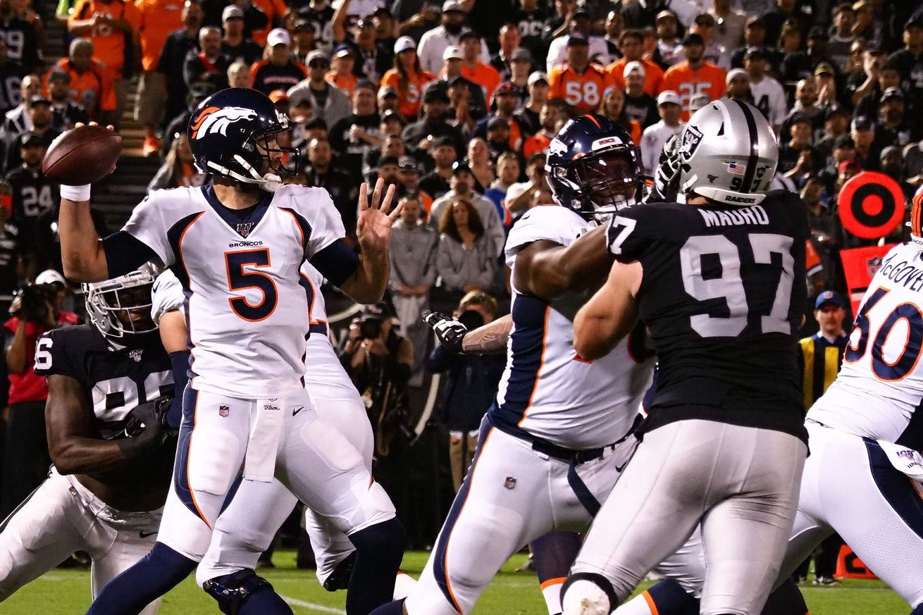 To beat the Bears, Broncos' offensive line must be a brick wall