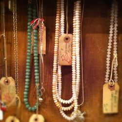 Vintage Beaded Necklaces, Jade, Raw Opal, Rose Quartz, range in price from $60 - $160.