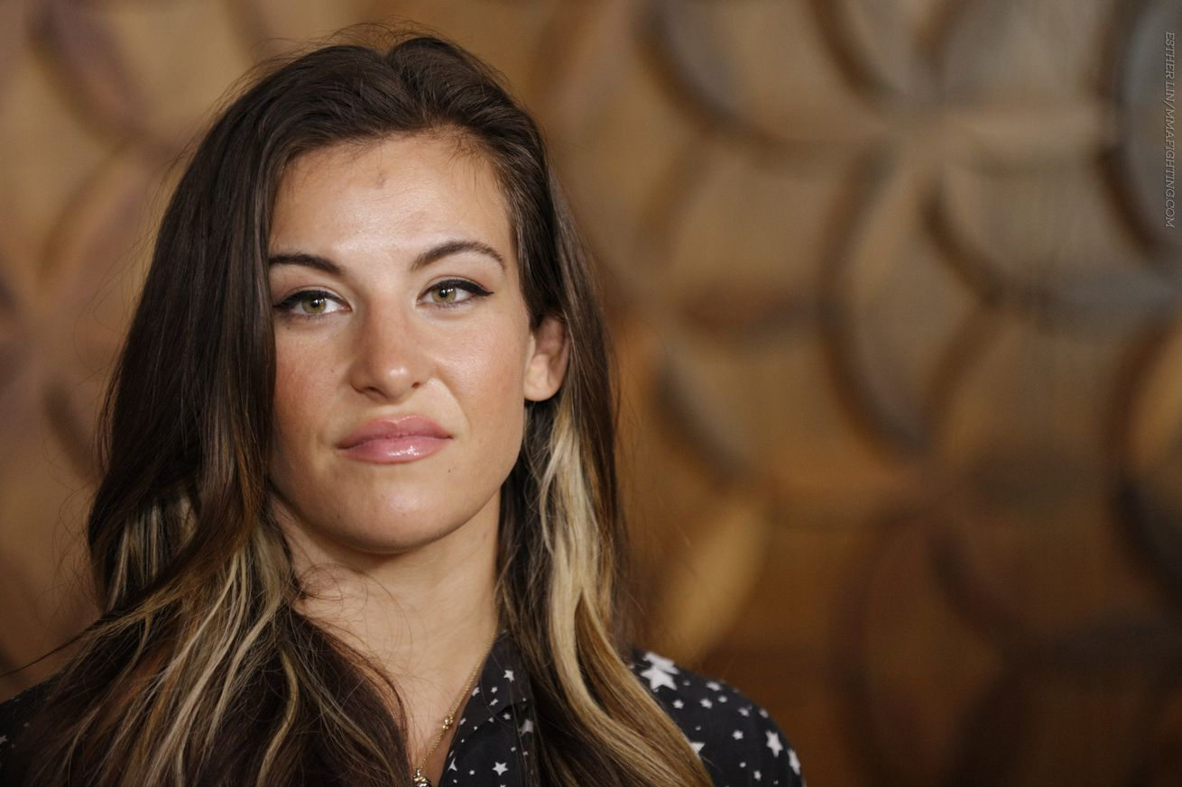 Miesha Tate at Los Angeles media luncheon for UFC 200