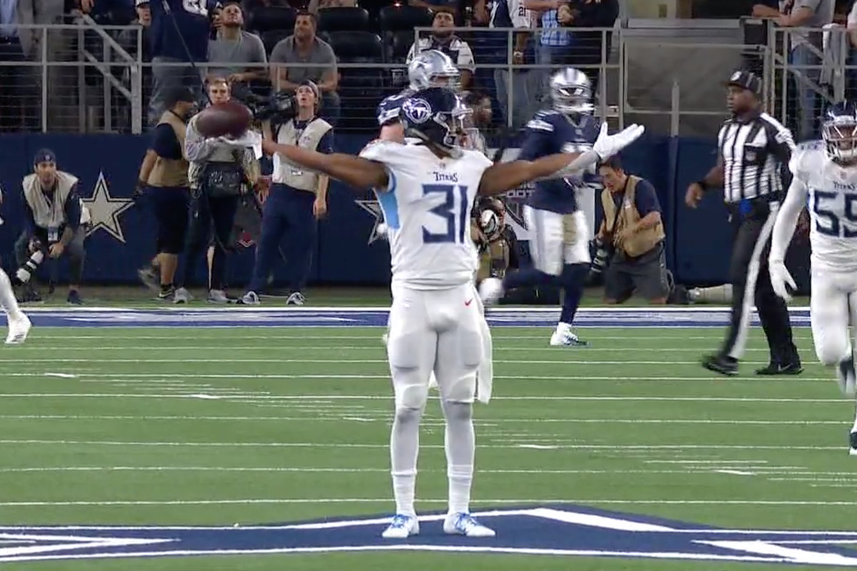 62f066bc8 Titans  Kevin Byard fined for dancing on Dallas star like Terrell ...