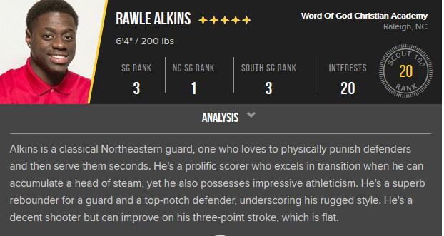 Rawle Alkins Analysis