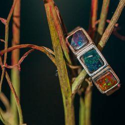 <b>Urban Boulder</b> Little Gem Opal ring, $250