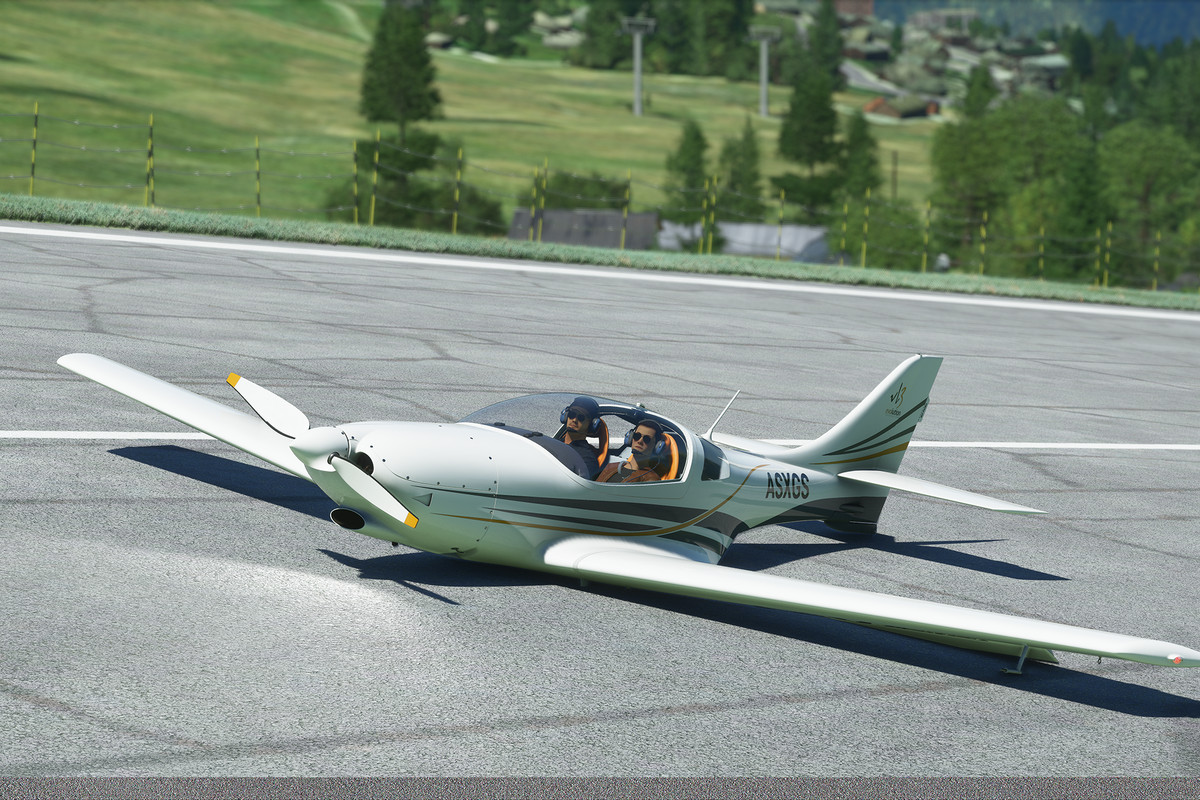 A single-engine plane landed without landing gear.